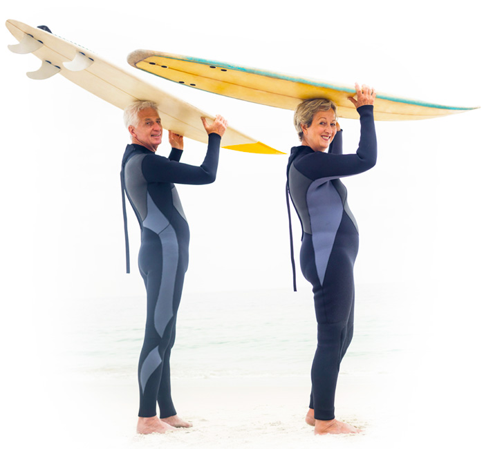 Everstrong Couple Surfing