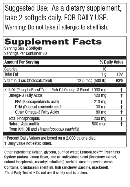 Krill Omega 50+<sup>®</sup> (Krill 500 mg + Fish Oil 500 mg)