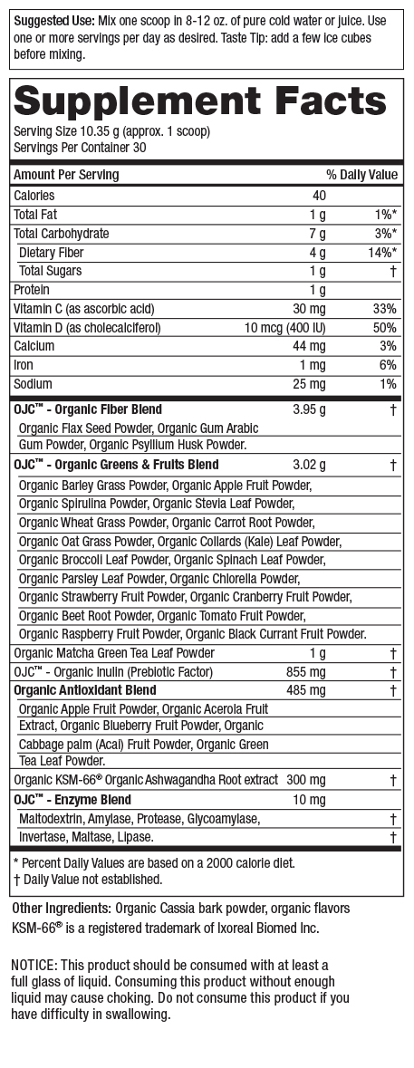 Certified Organic Juice Cleanse - OJC<sup>®</sup> - Peach Matcha Greens