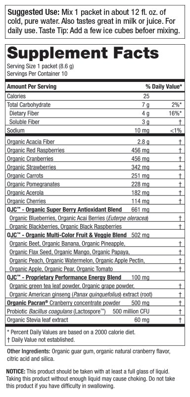 10 Day Organic Juice Cleanse - OJC<sup>®</sup> Plus - Cranberry Cleanse