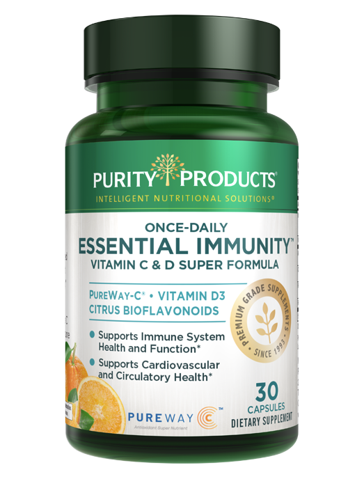 Purity's C & D Super formula combines the highest quality Vitamin C; Vitamin D; plus bioflavonoids -- in ONE formula.