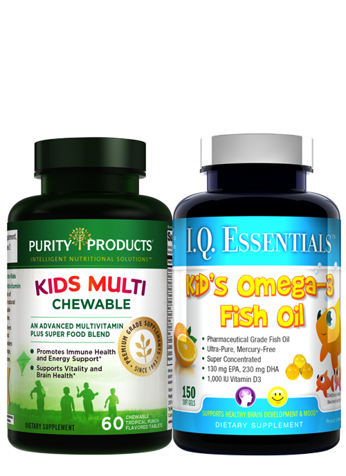 Kid's Omega-3 Fish Oil and Chewable Multi Kit