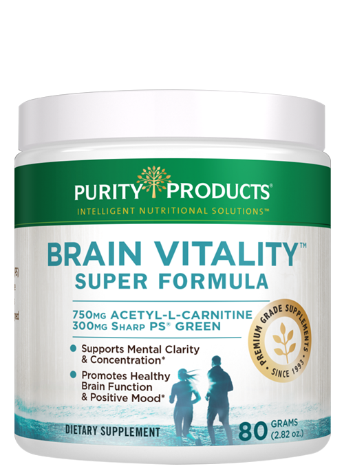 The cutting edge ingredients in the Brain Vitality Super Formula supports healthy memory; focus and recall*