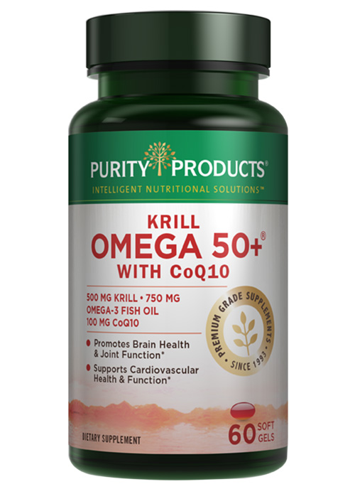 Krill omega 50 with coq10 purity products for Coq10 and fish oil