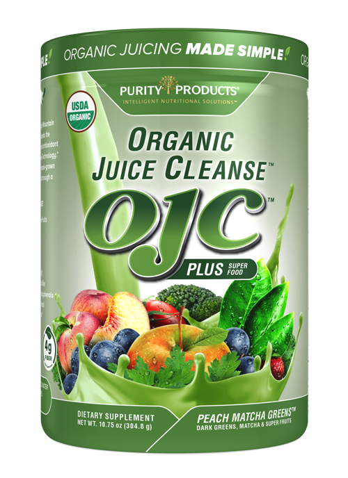 Certified Organic Juice Cleanse - OJC - Peach Matcha Greens