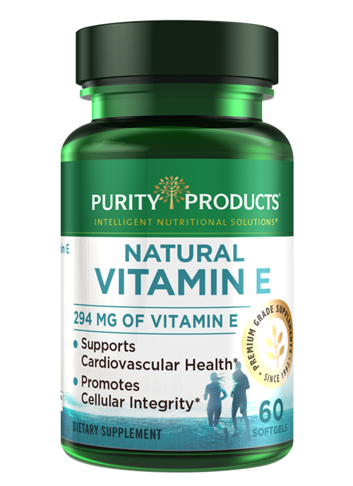 Purity Products offers the highest grade Vitamin E in an easy-to-absorb softgel capsule.