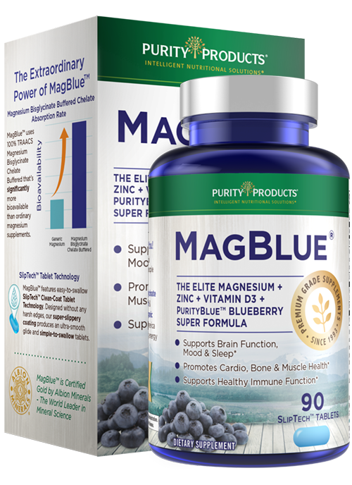 M<span>ag</span>B<span>lue</span><sup>™</sup> - High Efficiency Magnesium + Vitamin D + Zinc + AuroraBlue<sup>®</sup> Blueberries