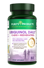 UBIQUINOL DAILY Co-Q10 QH 100 mg + RESVERATROL