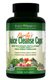 JUICE CLEANSE CAPS -- Made with Organic Ingredients