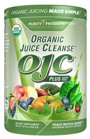 Certified Organic Juice Cleanse -- OJC - Peach Matcha Greens