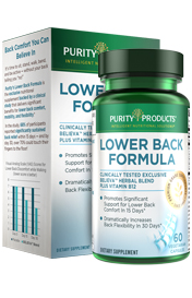 BELIEVA LOWER BACK RELIEF FORMULA – 60 CAPS